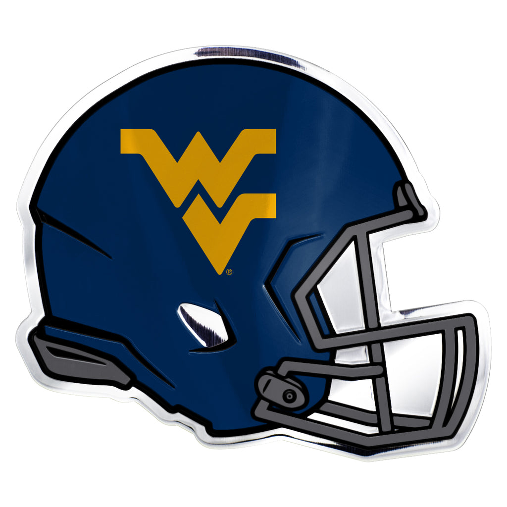 "West Virginia University Embossed Helmet Emblem 3.25"" x 3.25""- ""WV"" Logo"
