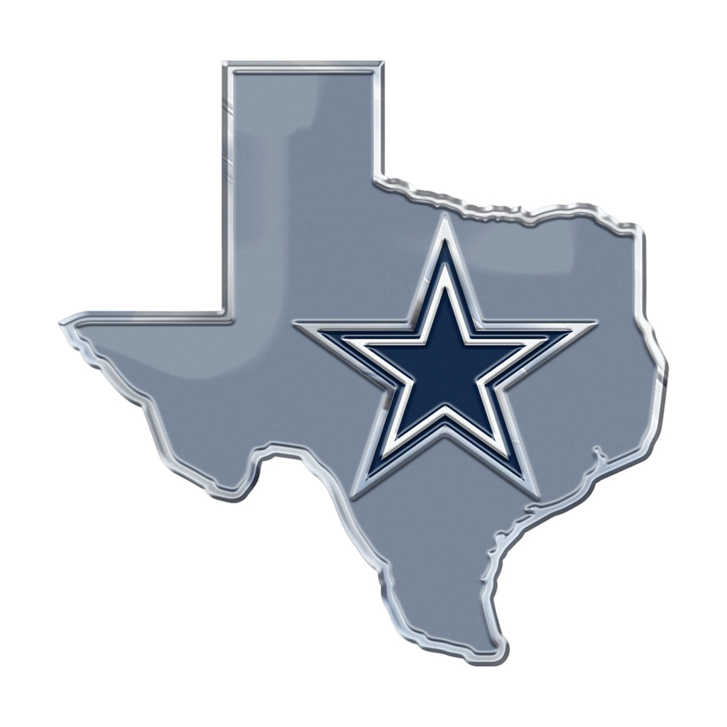 "NFL - Dallas Cowboys Embossed State Emblem 3.25"" x 3.25""- ""Star"" Logo / Shape of Texas"