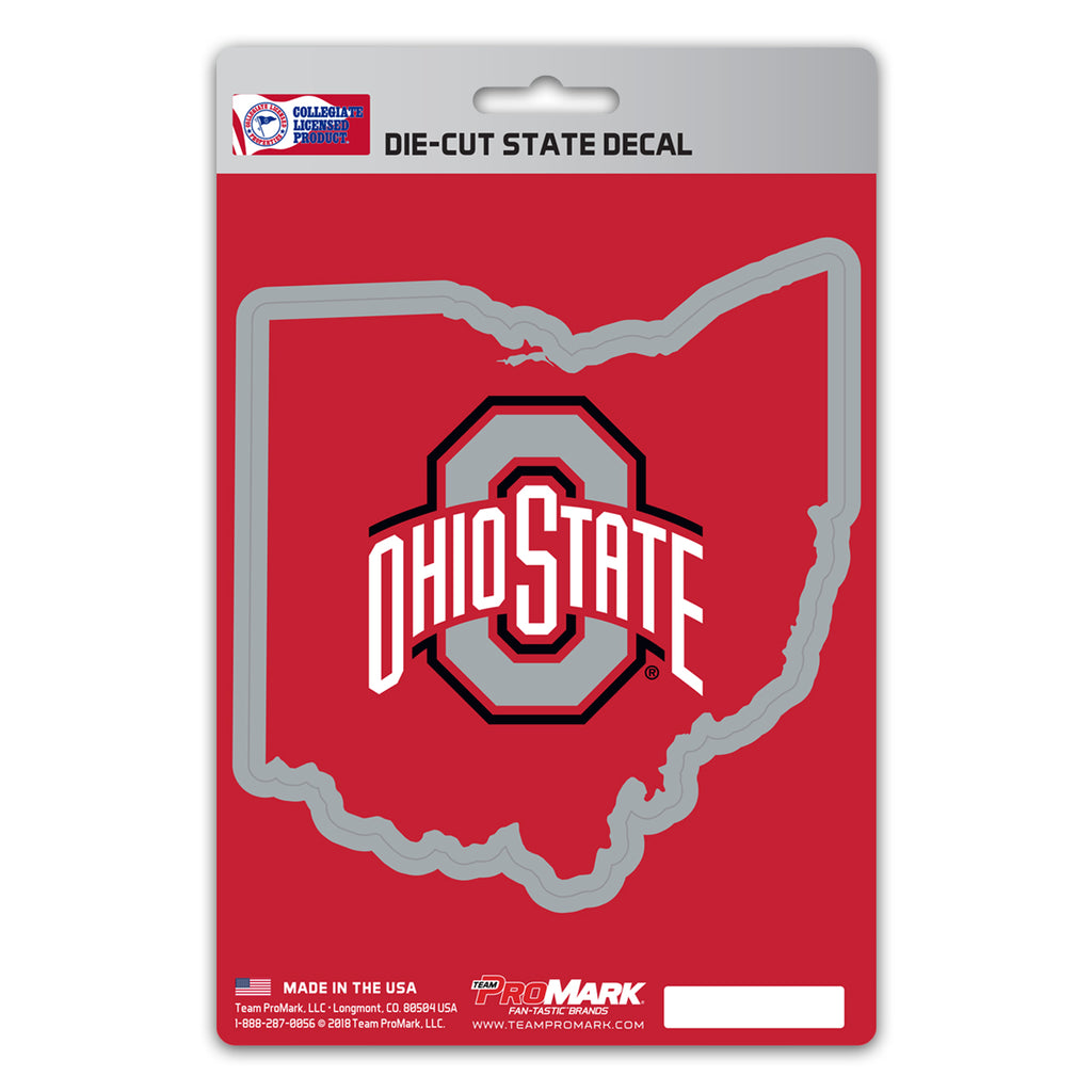 "Ohio State University State Shape Decal 5"" x 6.25"" - ""O & 'Ohio State'"" Logo / State of Ohio"
