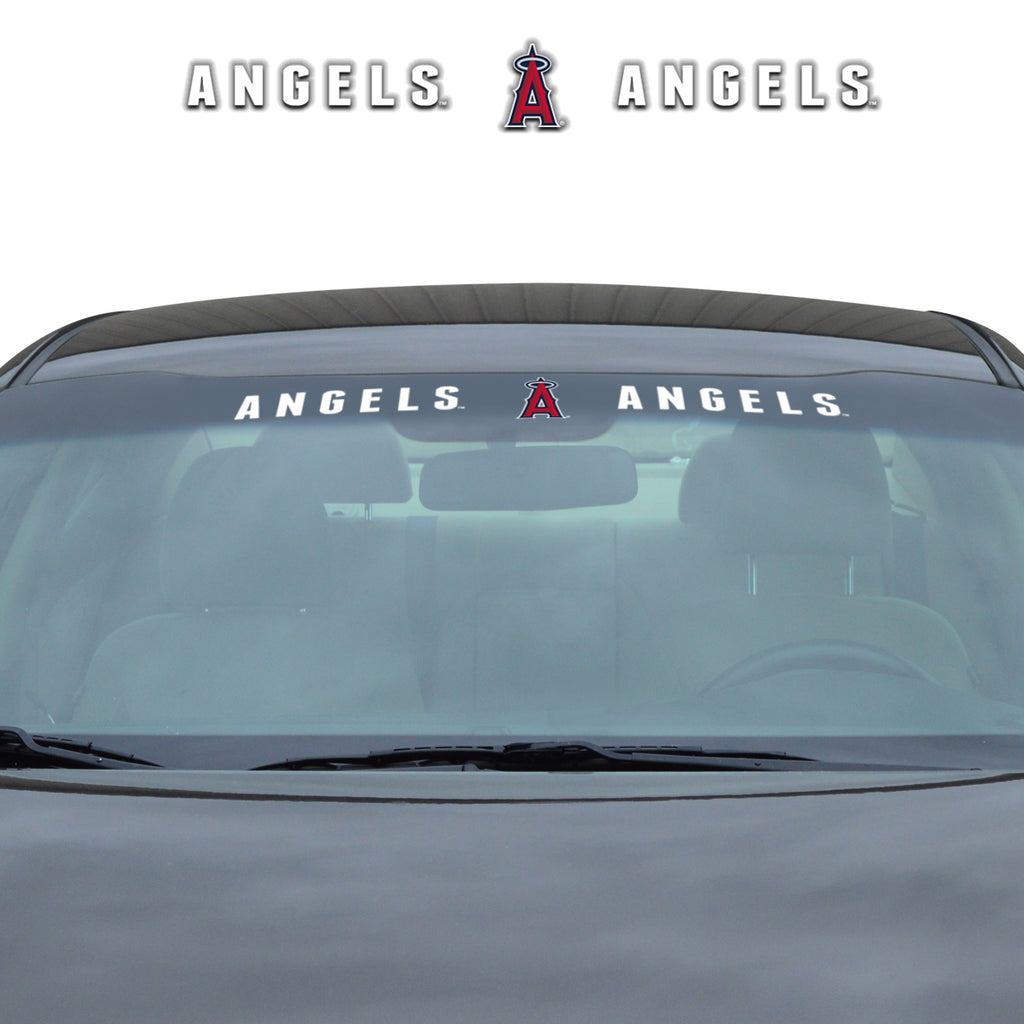 "MLB - Los Angeles Angels Windshield Decal 34"" x 3.5 - Primary Logo and Team Wordmark"
