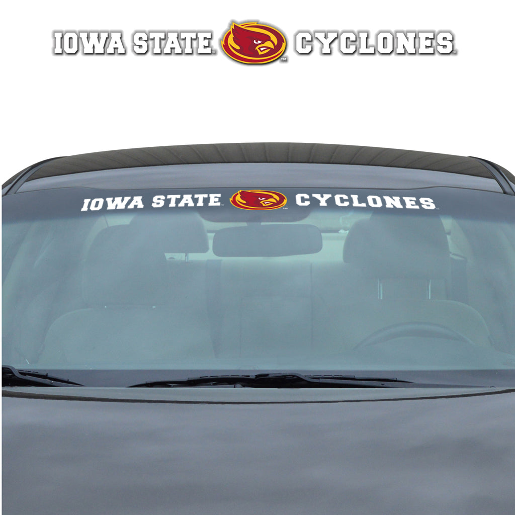"Iowa State University Windshield Decal 34"" x 3.5 - Primary Logo and Team Wordmark"