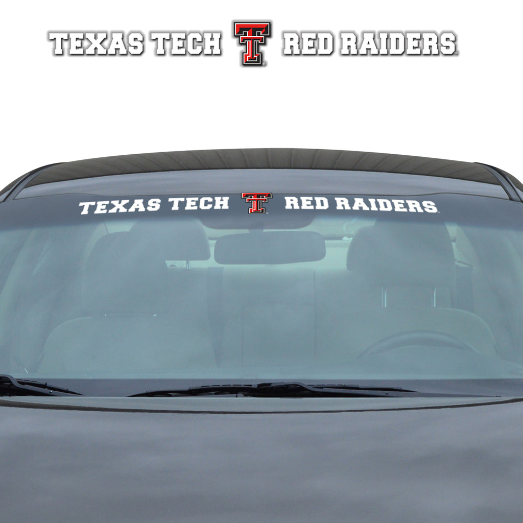 "Texas Tech University Windshield Decal 34"" x 3.5 - Primary Logo and Team Wordmark"