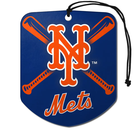 "MLB - New York Mets Air Freshener 2-pk 2.75"" x 3.5"" - ""NY"" Alternate Logo & Wordmark"
