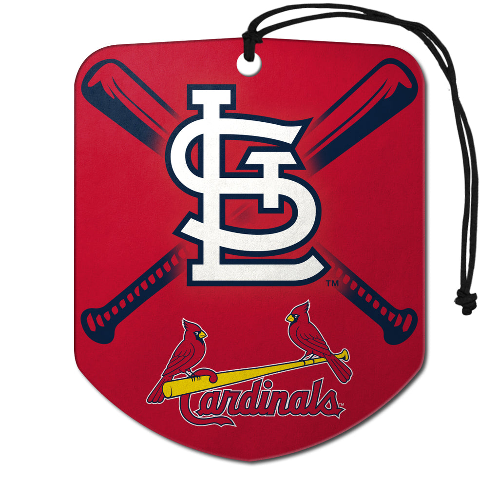 "MLB - St. Louis Cardinals Air Freshener 2-pk 2.75"" x 3.5"" - ""STL"" Alternate Logo & Wordmark"