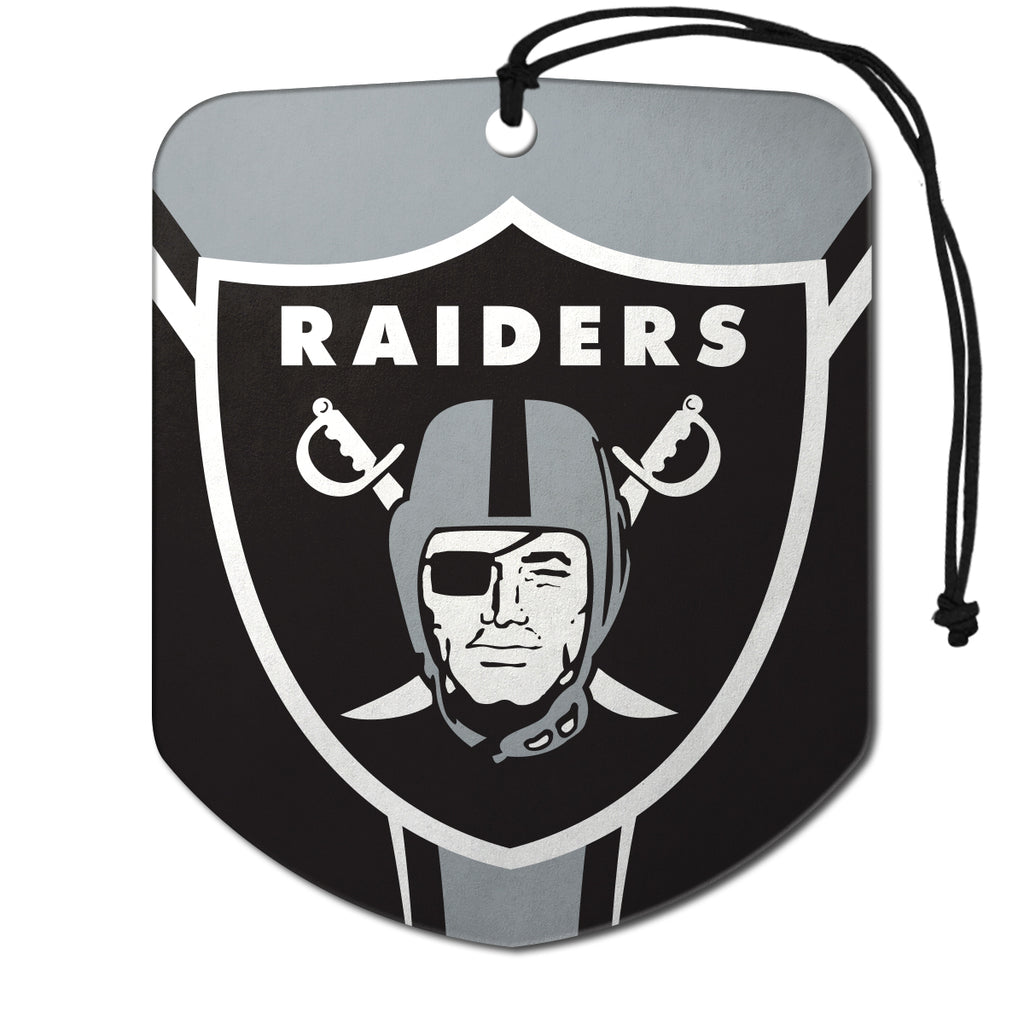 "NFL - Las Vegas Raiders Air Freshener 2-pk 2.75"" x 3.5"" - Raiders Primary Logo"