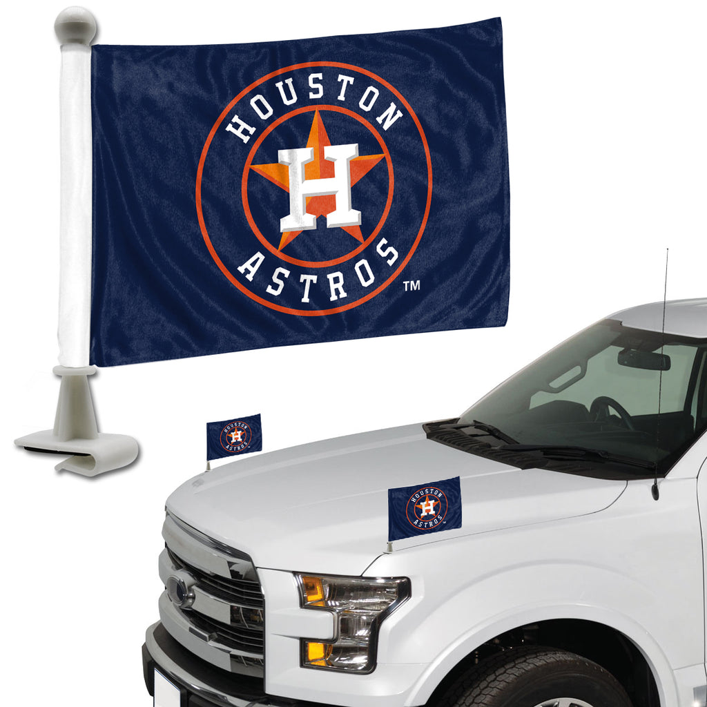"MLB - Houston Astros Ambassador Flags 4"" x 6"" - ""Circular H & Star"" Primary Logo"