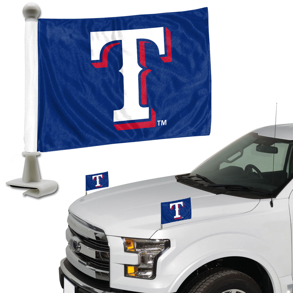 "MLB - Texas Rangers Ambassador Flags 4"" x 6"" - ""T"" Alternate Logo"