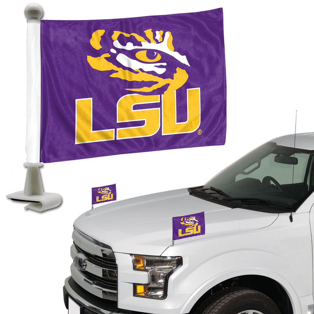 "Louisiana State University Ambassador Flags 4"" x 6"" - ""Tiger Eye and Wordmark"" Logo"