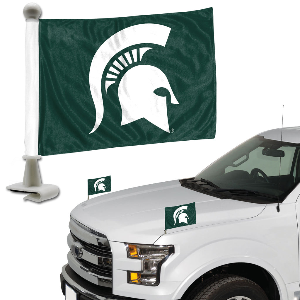 "Michigan State University Ambassador Flags 4"" x 6"" - ""Spartan Helmet"" Primary Logo"