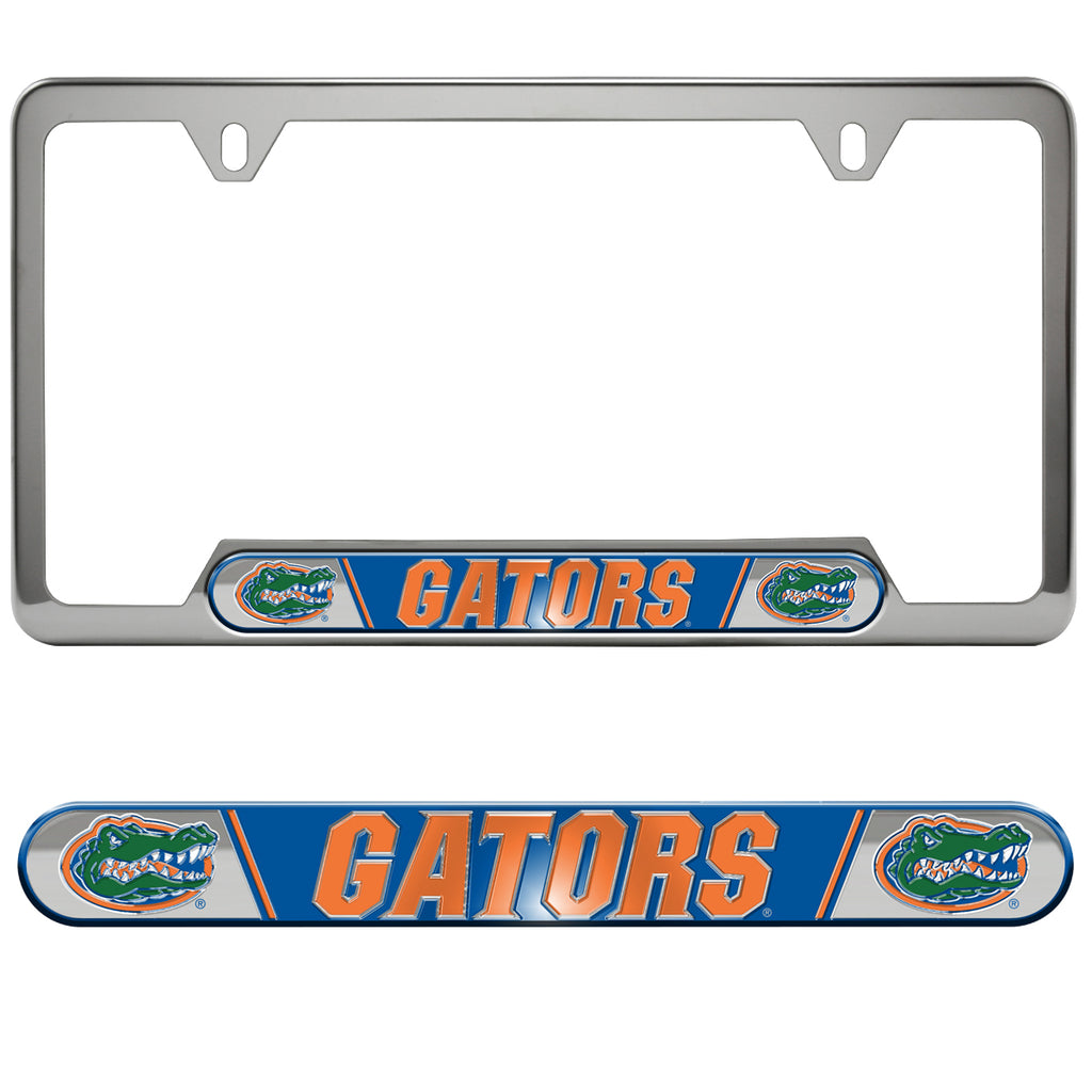 "University of Florida Embossed License Plate Frame 12.25"" x 6.25"" - Primary Logo and Wordmark"