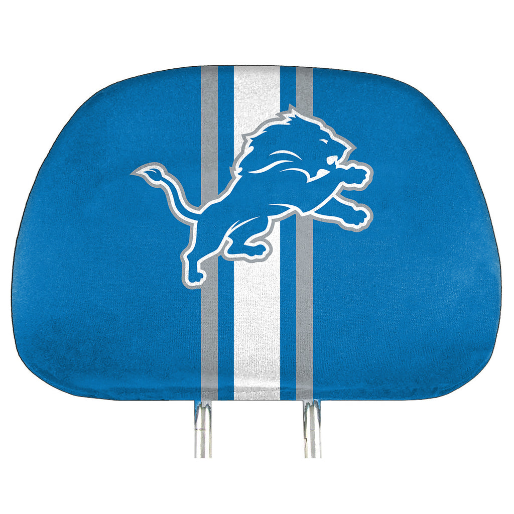 "NFL - Detroit Lions Printed Headrest Cover 14"" x 10"" - Lions Primary Logo"