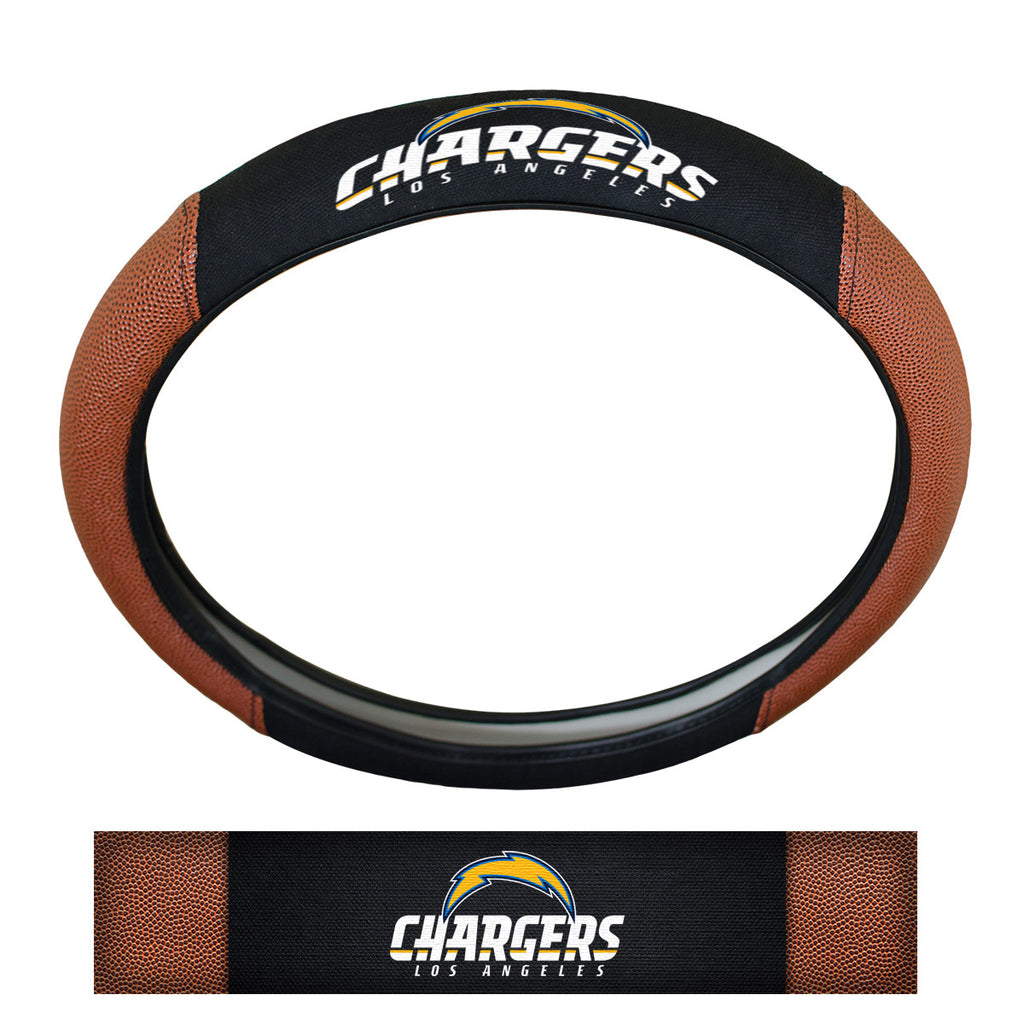 "NFL - Los Angeles Chargers Sports Grip Steering Wheel Cover 14.5"" to 15.5"" - Primary Logo and Wordmark"