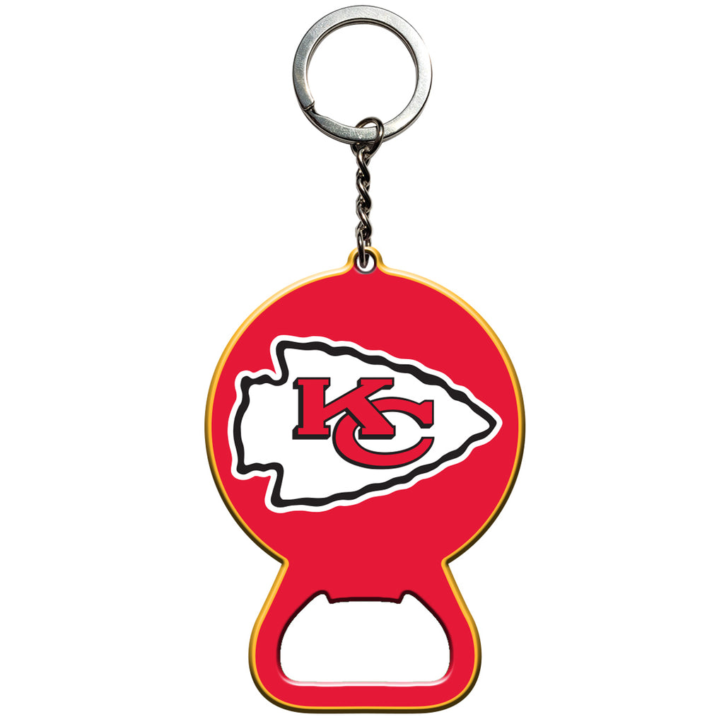 "NFL - Kansas City Chiefs Keychain Bottle Opener 3"" x 3"" - Chiefs Primary Logo"