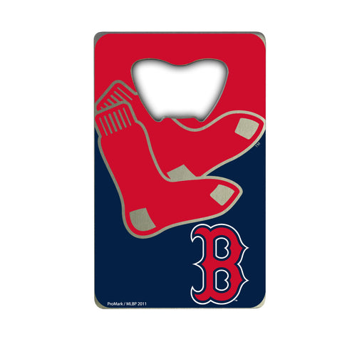 "MLB - Boston Red Sox Credit Card Bottle Opener 2"" x 3.25 - Primary and Alternate Logo"
