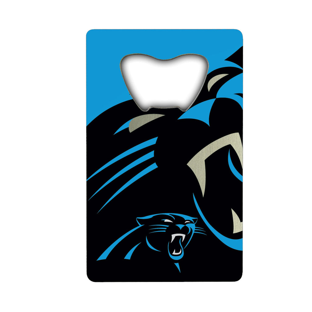 "NFL - Carolina Panthers Credit Card Bottle Opener 2"" x 3.25 - Panthers Primary Logo"