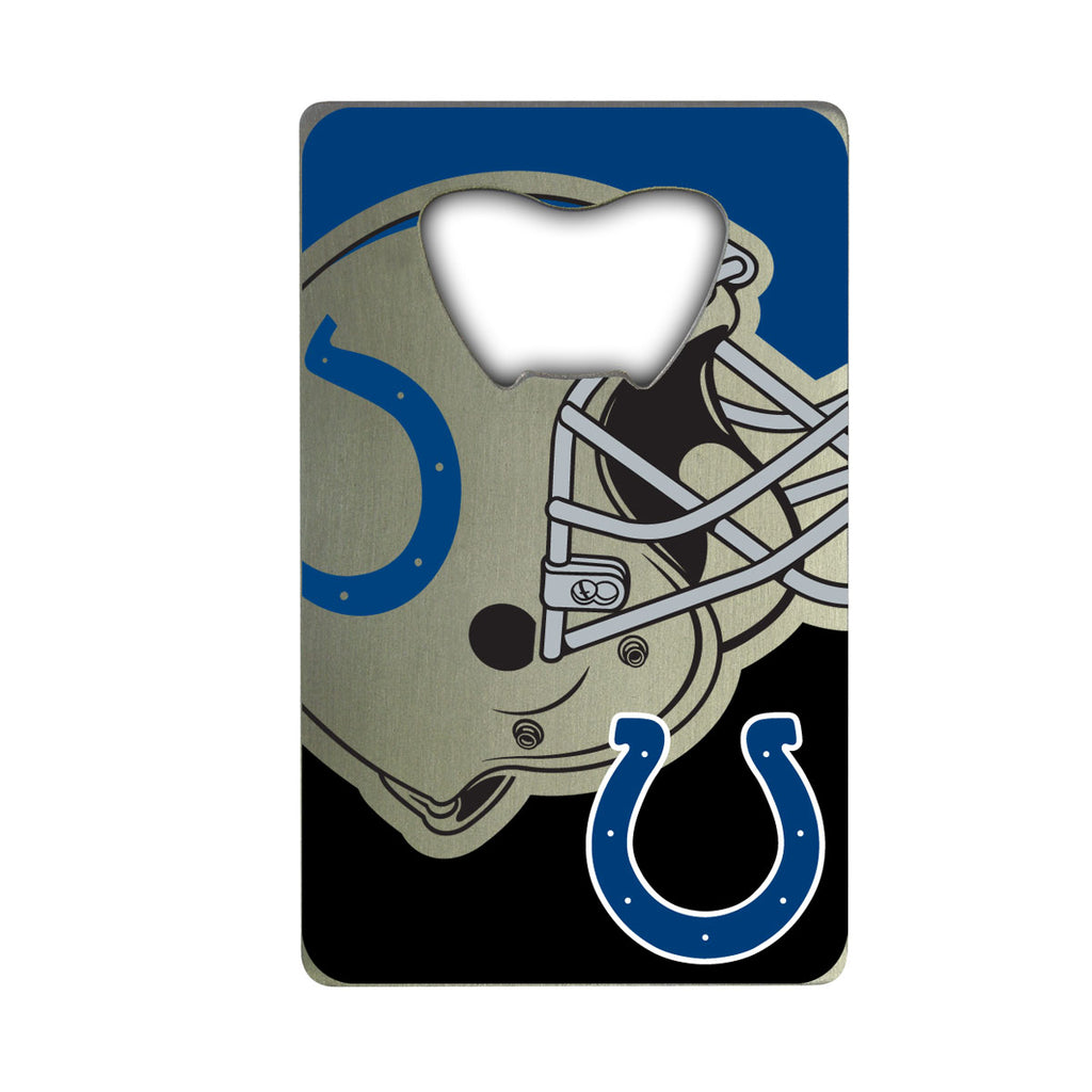 "NFL - Indianapolis Colts Credit Card Bottle Opener 2"" x 3.25 - Colts Primary Logo & Helmet"