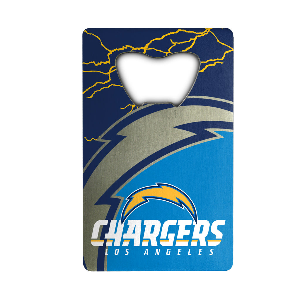 "NFL - Los Angeles Chargers Credit Card Bottle Opener 2"" x 3.25 - Chargers Primary Logo & Wordmark"