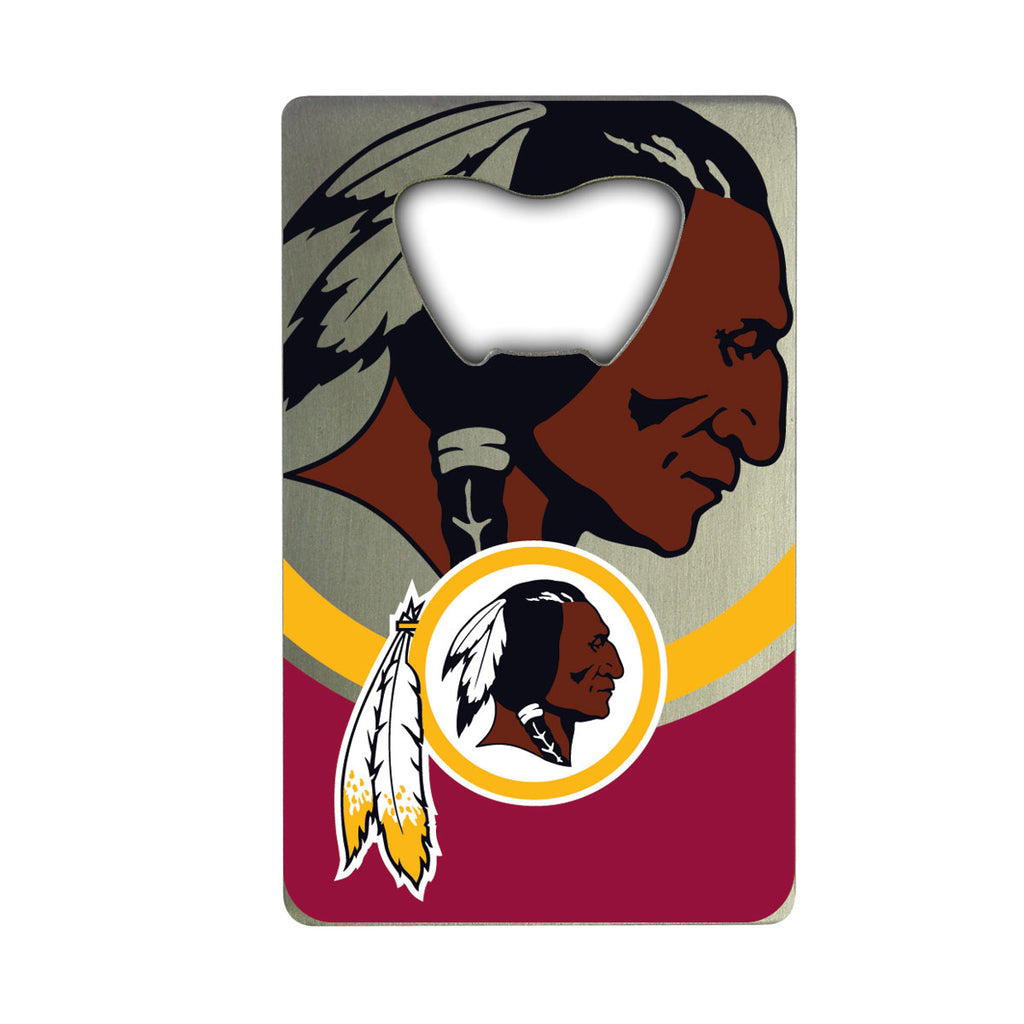 "NFL - Washington Redskins Credit Card Bottle Opener 2"" x 3.25 - Redskins Primary Logo"