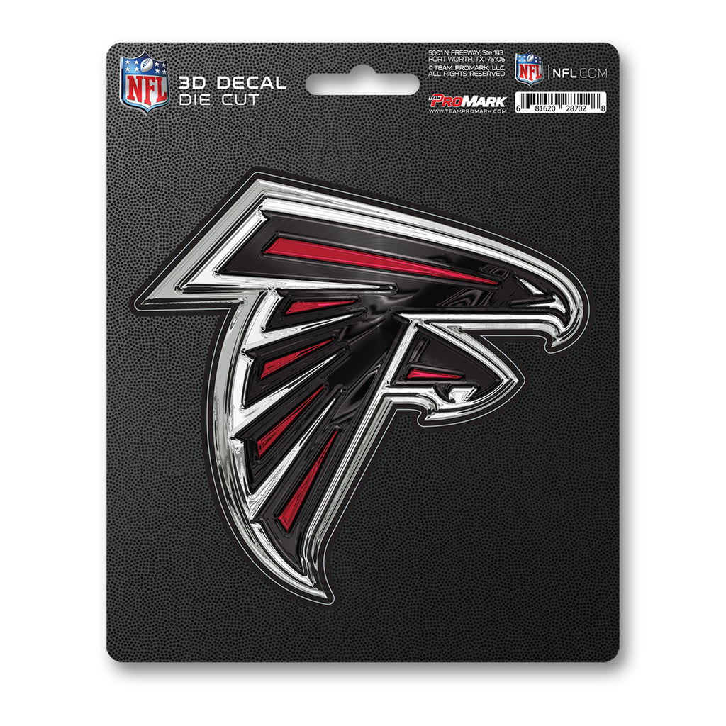 "NFL - Atlanta Falcons 3D Decal 5"" x 6.25"" - ""Falcon"" Logo"