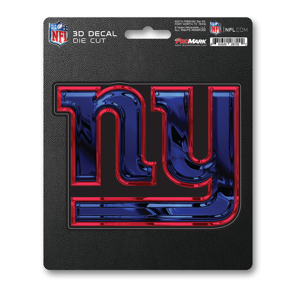 "NFL - New York Giants 3D Decal 5"" x 6.25"" - ""NY"" Logo"