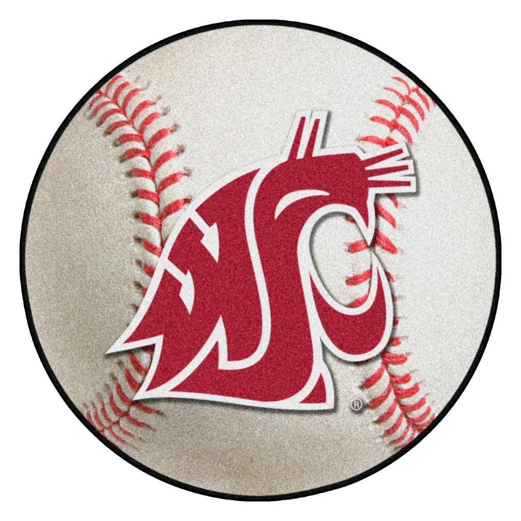 "Washington State University Baseball Mat 27"" diameter"