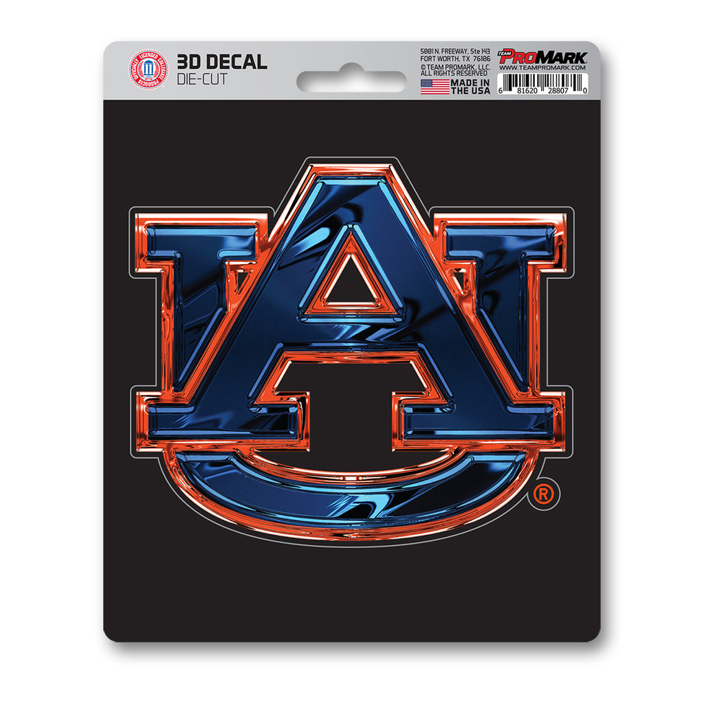 "Auburn University 3D Decal 5"" x 6.25"" - ""AU"" Logo"