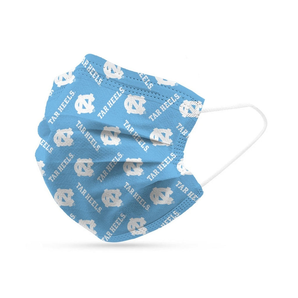 North Carolina Tar Heels Face Mask Disposable 6 Pack