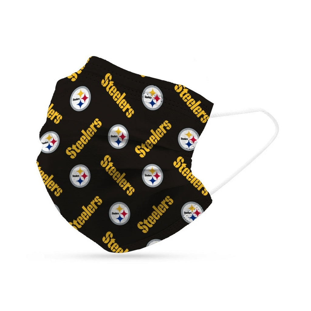 Pittsburgh Steelers Face Mask Disposable 6 Pack