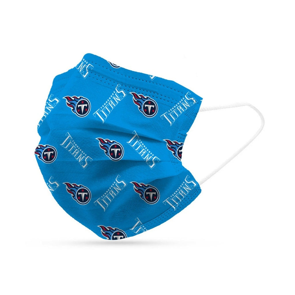 Tennessee Titans Face Mask Disposable 6 Pack