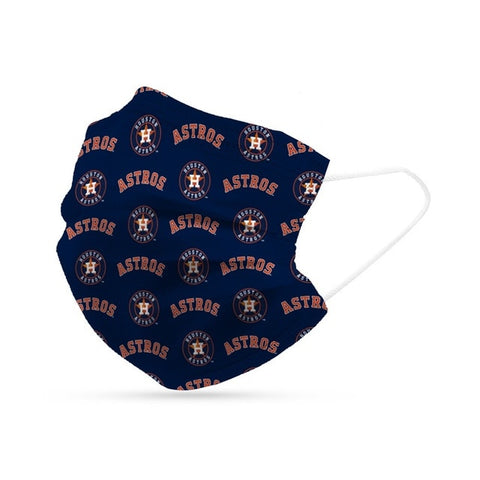 Houston Astros Face Mask Disposable 6 Pack
