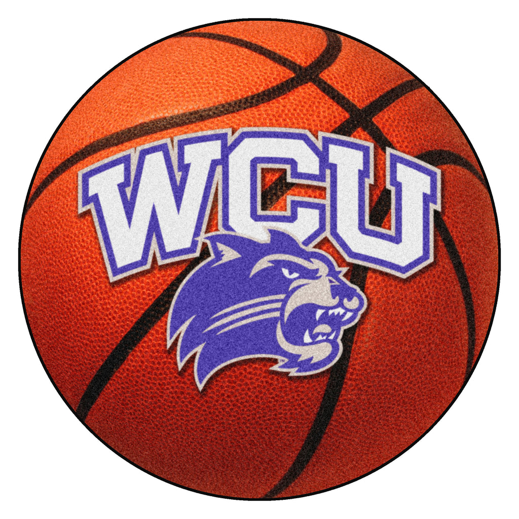 "Western Carolina University Basketball Mat 27"" diameter"""