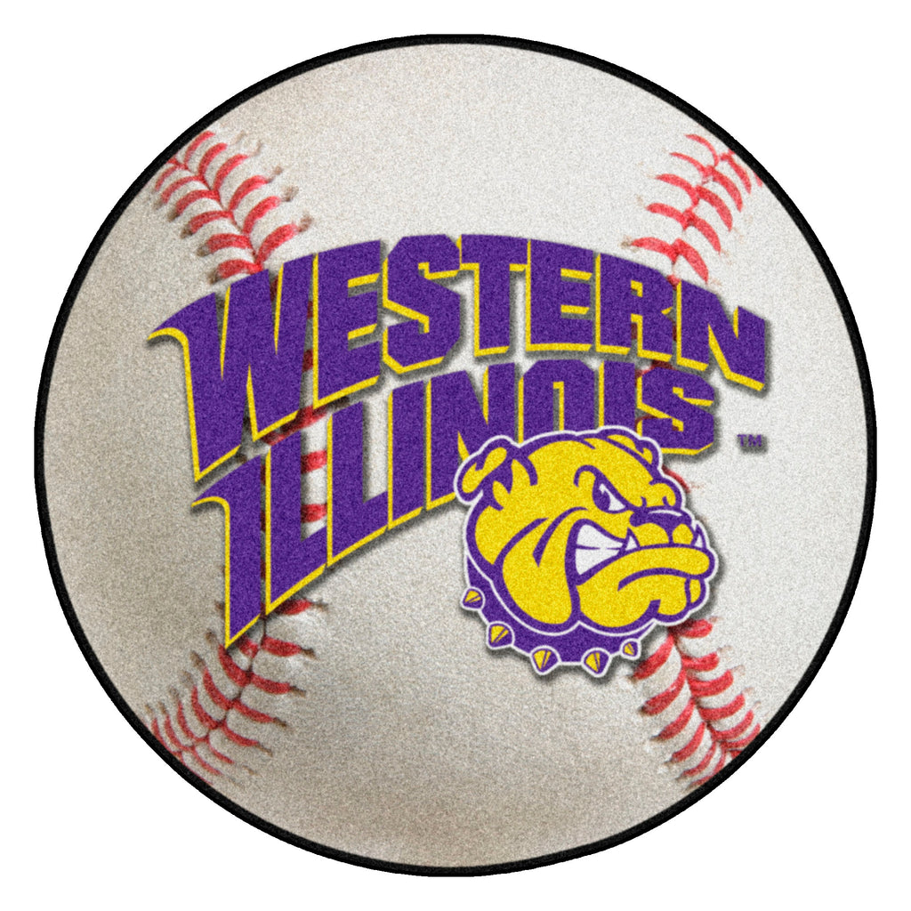 "Western Illinois University Baseball Mat 27"" diameter"