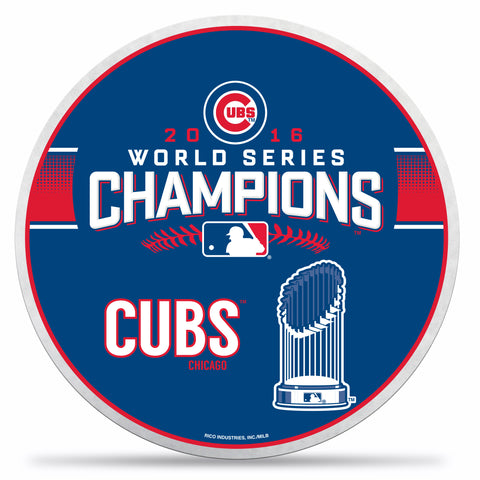 Chicago Cubs Pennant Die Cut 2016 World Series Champs Not Carded