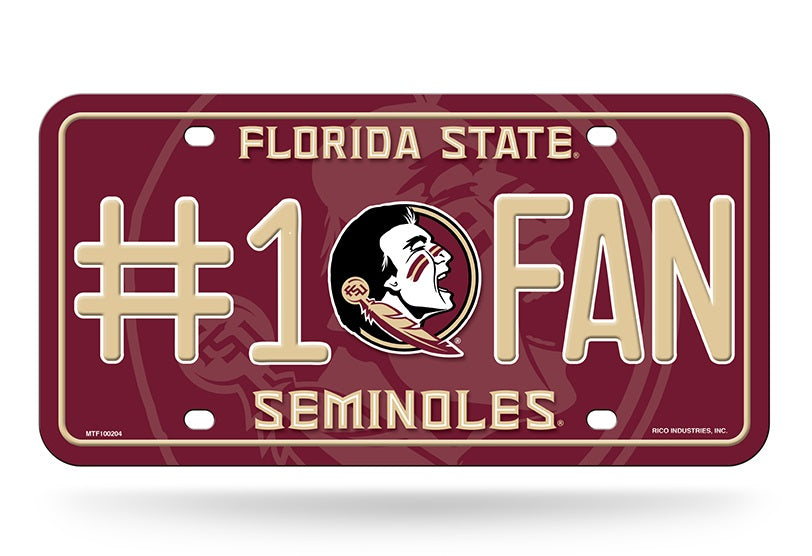 Florida State Seminoles License Plate #1 Fan