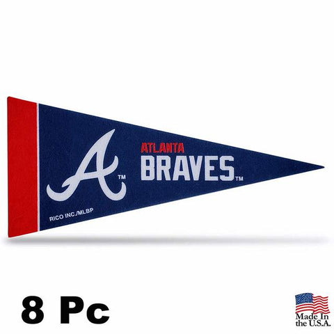 Atlanta Braves Pennant Set Mini 8 Piece - Special Order