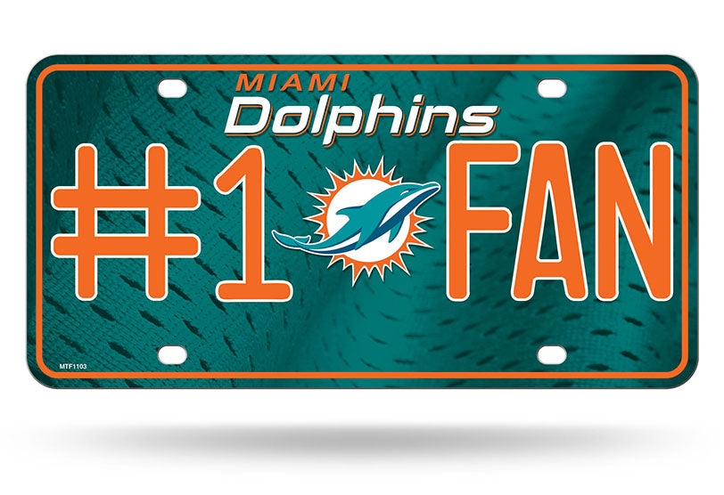 Miami Dolphins License Plate #1 Fan