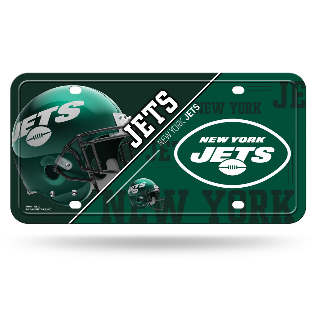 New York Jets License Plate Metal Alternate Design