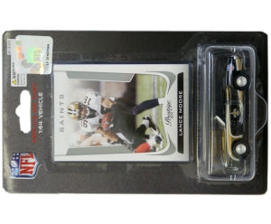 New Orleans Saints Lance Moore 1:64 Chevy Camaro with Trading Card