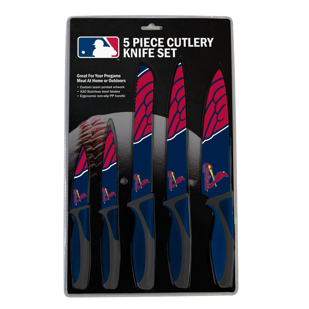 St. Louis Cardinals Knife Set - Kitchen - 5 Pack - Special Order