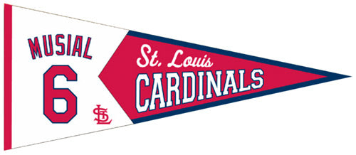 St. Louis Cardinals Pennant 13x32 Wool Legends Stan Musial