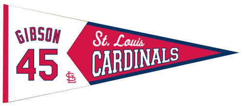 St. Louis Cardinals Pennant 13x32 Wool Legends Bob Gibson