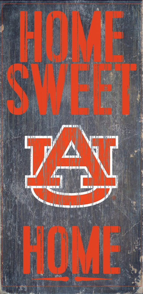 Auburn Tigers Wood Sign - Home Sweet Home 6x12