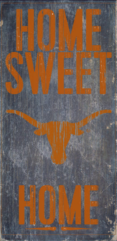 "Texas Longhorns Wood Sign - Home Sweet Home 6""x12"""