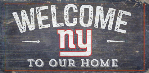 New York Giants Sign Wood 6x12 Welcome To Our Home Design - Special Order