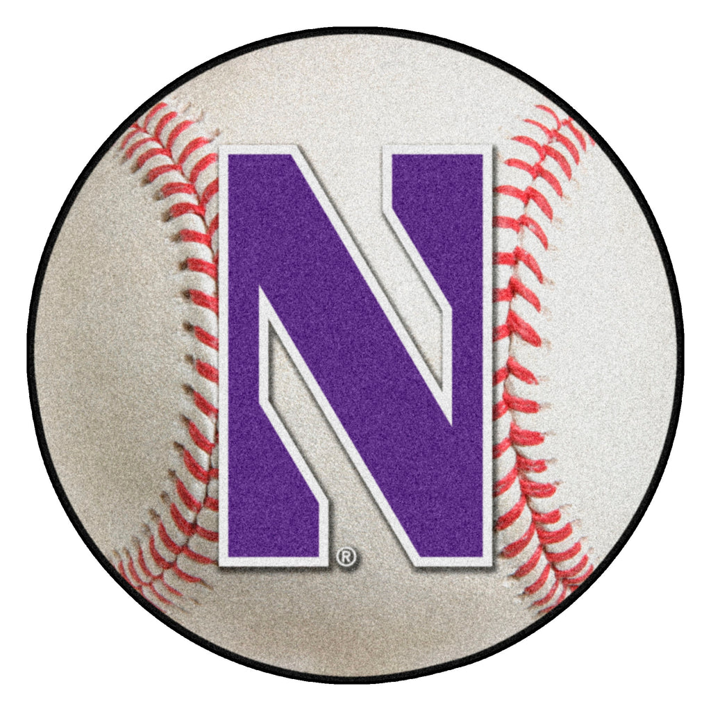 "Northwestern University Baseball Mat 27"" diameter"