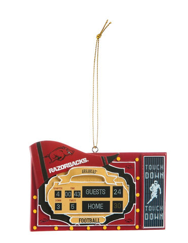 Arkansas Razorbacks Ornament Scoreboard Design