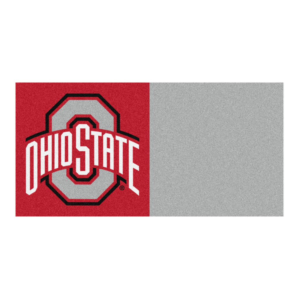 "Ohio State University Team Carpet Tiles 18""x18"""" tiles"""