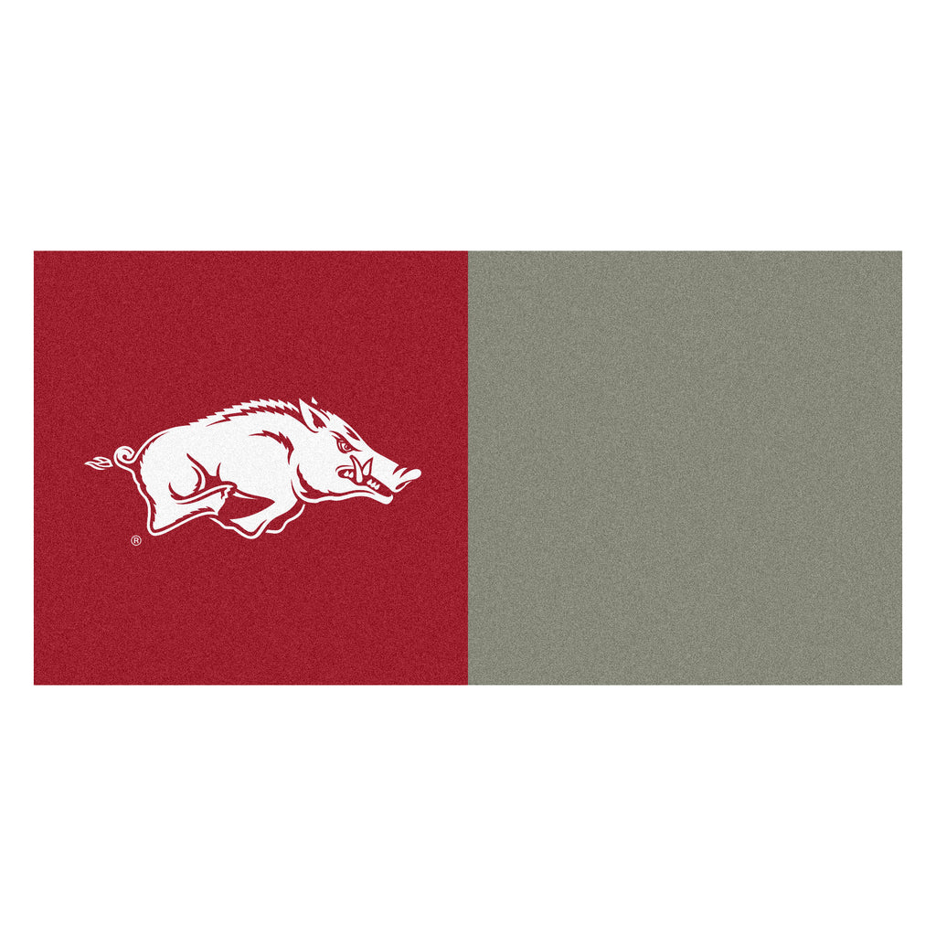 "University of Arkansas Team Carpet Tiles 18""x18"" tiles"