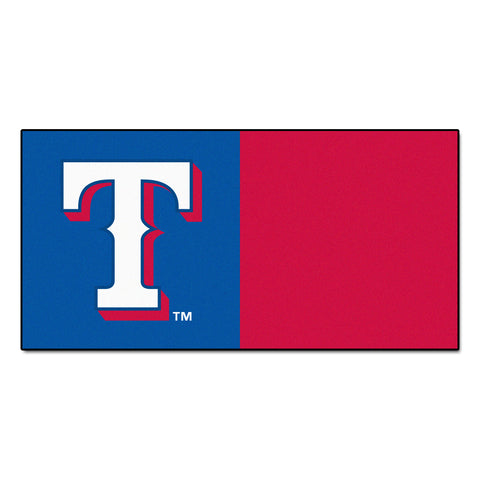 "MLB - Texas Rangers Team Carpet Tiles 18""x18"" tiles"