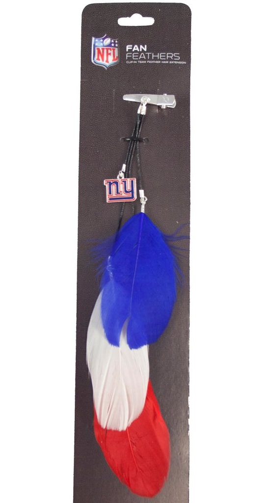 New York Giants Team Color Feather Hair Clip